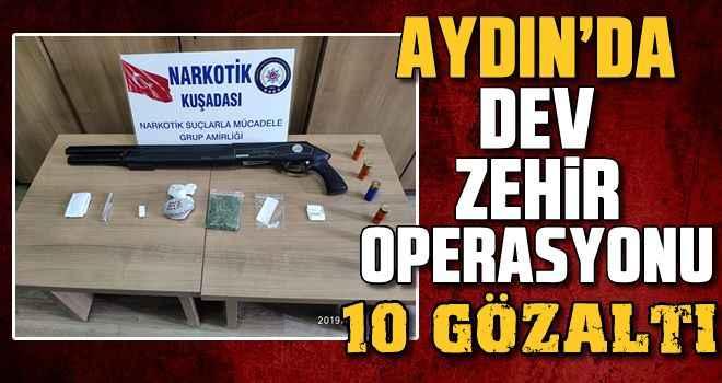 Aydın'da dev uyuşturucu operasyonu
