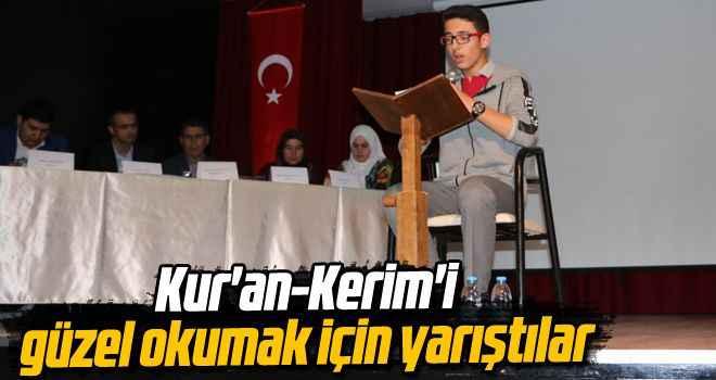 Kur'an-Kerim'i güzel okumak için yarıştılar