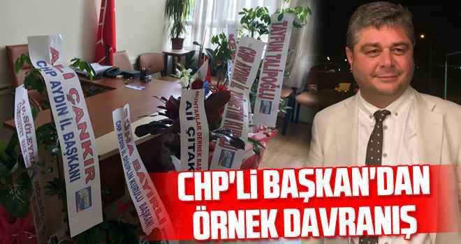 CHP'li Başkan'dan örnek davranış