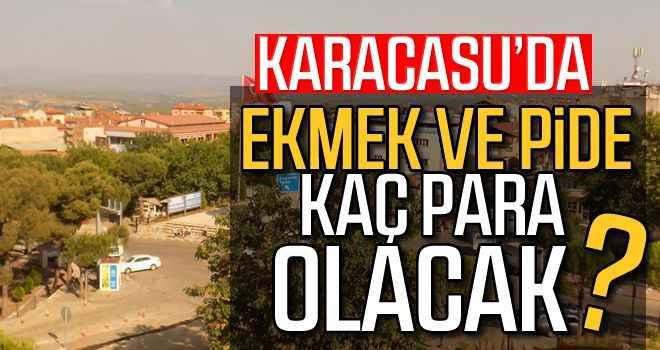 Karacasu'da ekmek ve pide kaç para olacak?