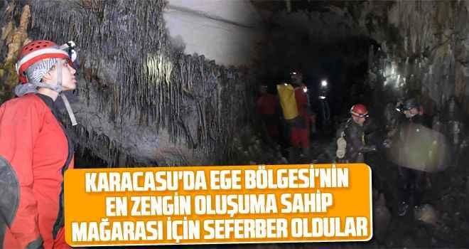Karacasu'da Ege Bölgesi'nin en zengin oluşuma sahip mağarası için seferber oldular