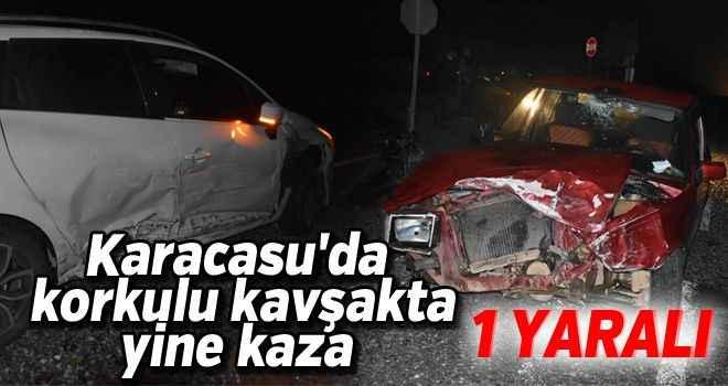 Karacasu'da korkulu kavşakta yine kaza: 1 yaralı