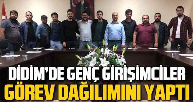 Didim'de genç girişimciler görev dağılımını yaptı