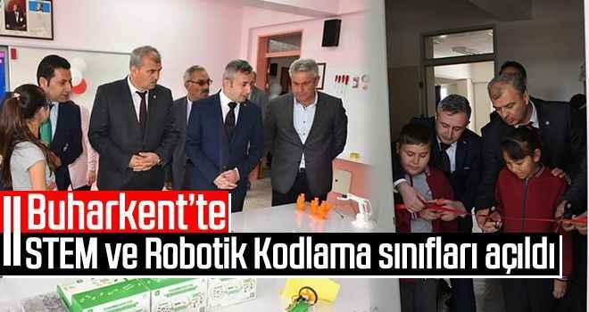 Buharkent'te STEM ve Robotik Kodlama sınıfları açıldı