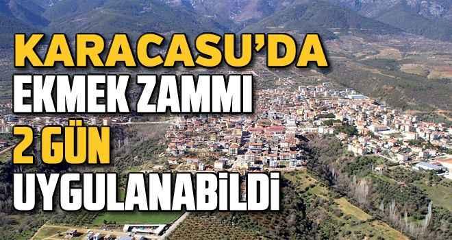 Karacasu'da ekmek zammı 2 gün uygulanabildi