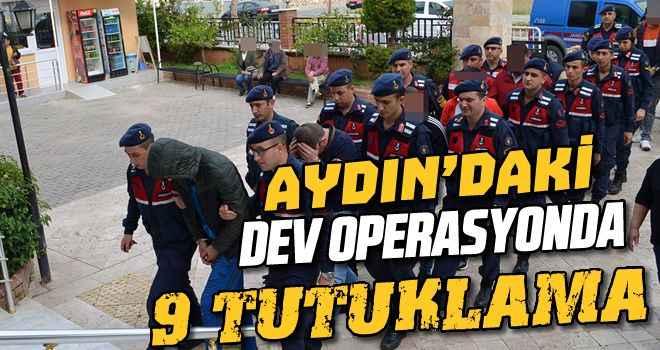 Uyuşturucu operasyonunda 9 zanlı tutuklandı
