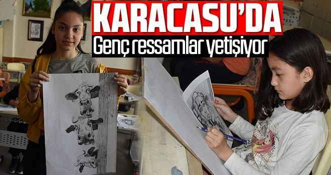 Karacasu'da genç ressamlar yetişiyor