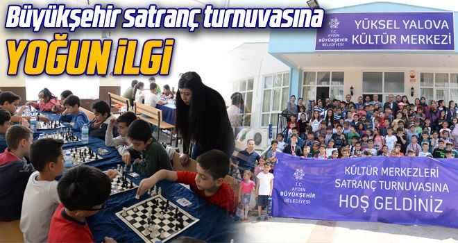 Büyükşehir satranç turnuvasına yoğun ilgi