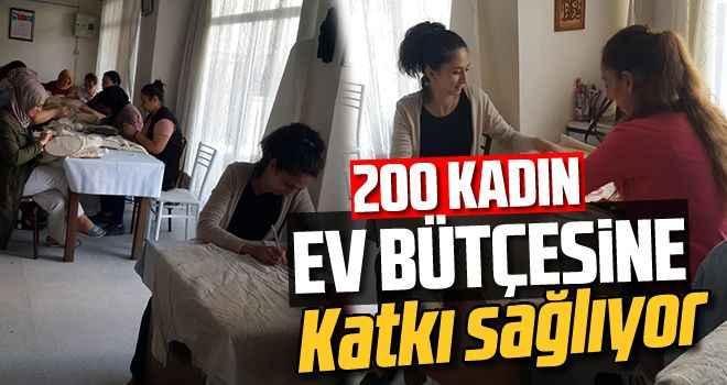 200 kadın, ev bütçesine katkı sağlıyor