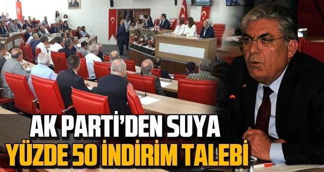 AK Parti'den suya yüzde 50 indirim talebi