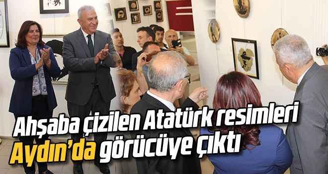 Ahşaba çizilen Atatürk resimleri Aydın'da görücüye çıktı