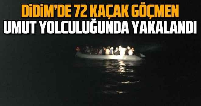 Didim'de 72 kaçak göçmen, umut yolculuğunda yakalandı