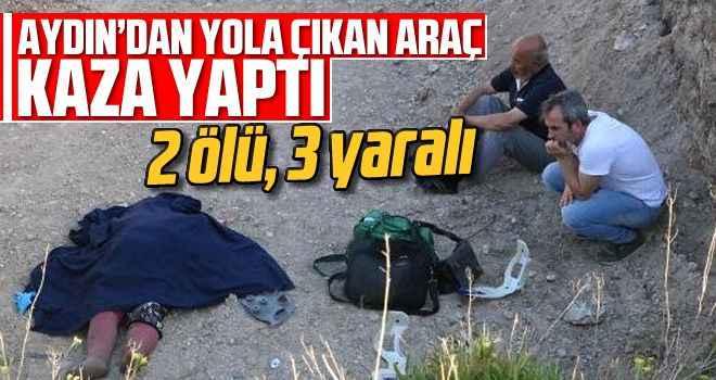 Aydın'dan yola çıkan araç kaza yaptı: 2 ölü, 3 yaralı