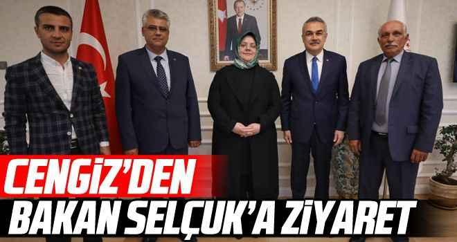 Cengiz'den Bakan Selçuk'a ziyaret