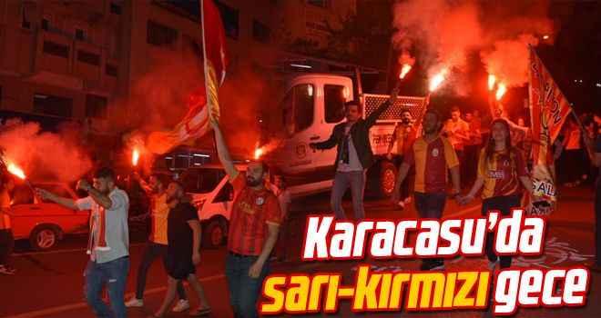 Karacasu'da sarı kırmızı gece
