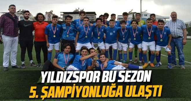 Yıldızspor bu sezon 5. şampiyonluğa ulaştı