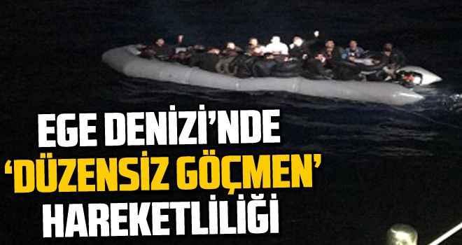 Ege Denizi'nde 'düzensiz göçmen' hareketliliği