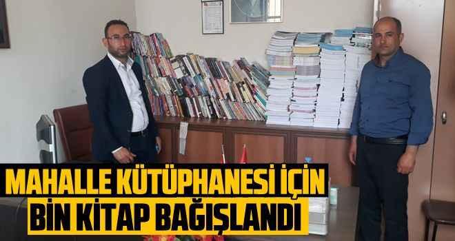 Mahalle kütüphanesi için bin kitap bağışlandı
