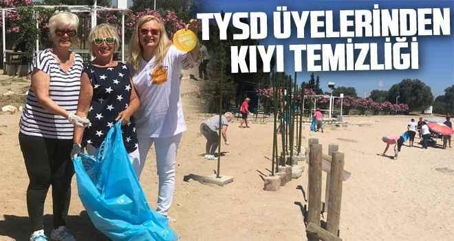 TYSD üyelerinden kıyı temizliği