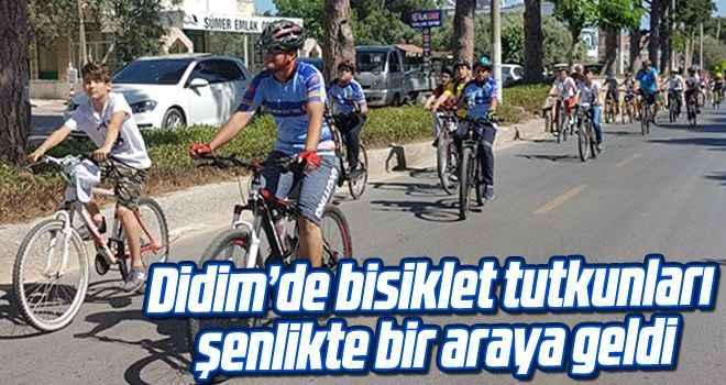 Didim'de bisiklet tutkunları şenlikte bir araya geldi