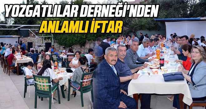 Yozgatlılar Derneği'nden anlamlı iftar