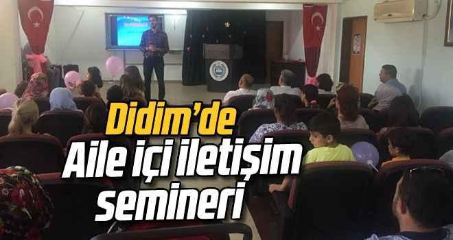 Didim'de aile içi iletişim semineri