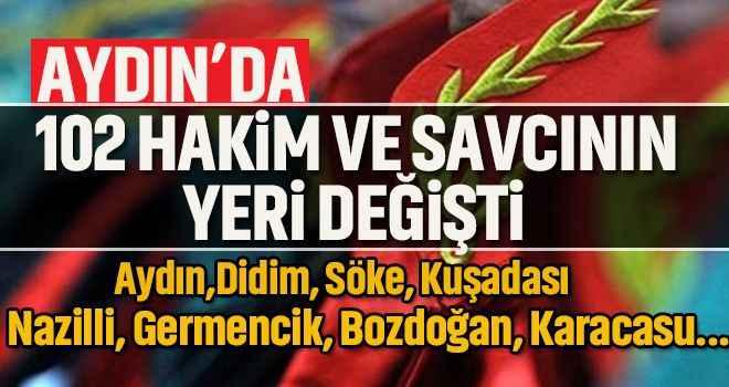 Aydın'a 64 yeni hakim ve savcı atandı