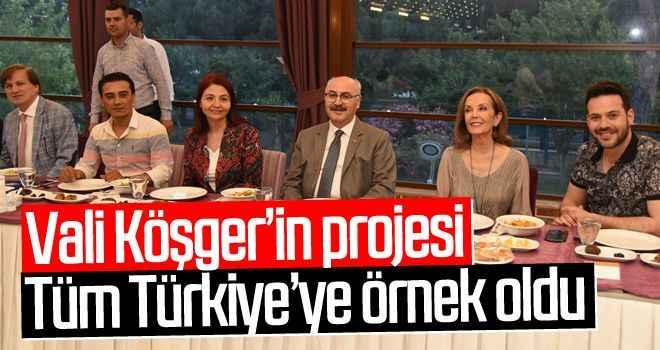 Vali Köşger'in projesi tüm Türkiye'ye örnek oldu
