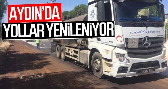 Aydın'da turizm sezonu öncesi yollar yenileniyor