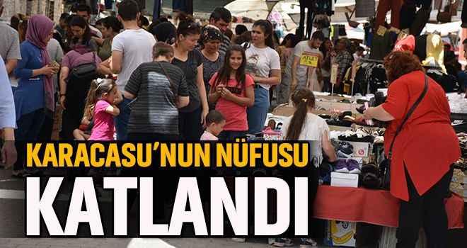 Karacasu'nun nüfusu katlandı