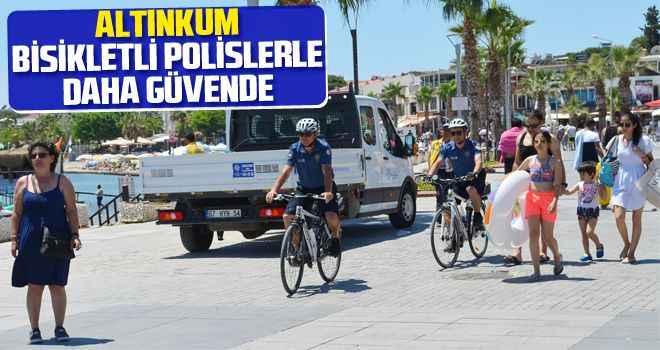 Altınkum, Bisikletli Polislerle daha güvende