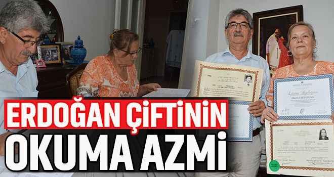 Erdoğan çiftinin okuma azmi