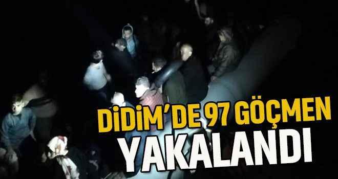 Didim'de 97 göçmen yakalandı