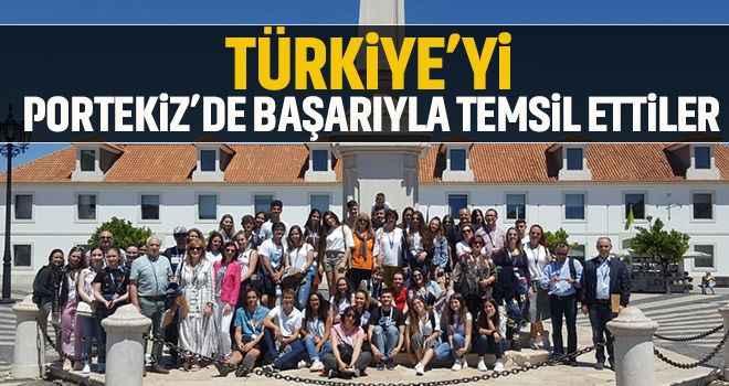 Türkiye'yi Portekiz'de başarıyla temsil ettiler
