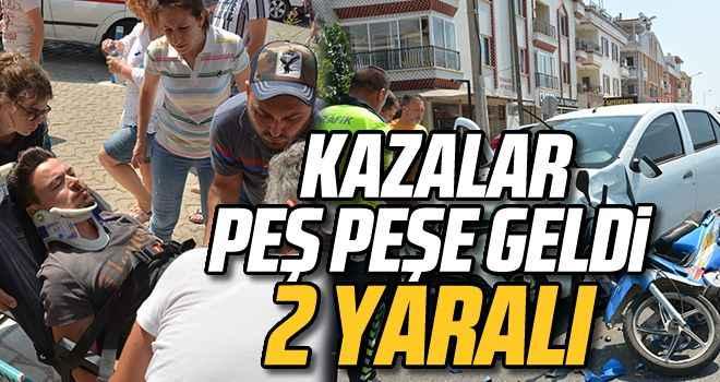 Aydın'da trafik kazaları: 2 yaralı