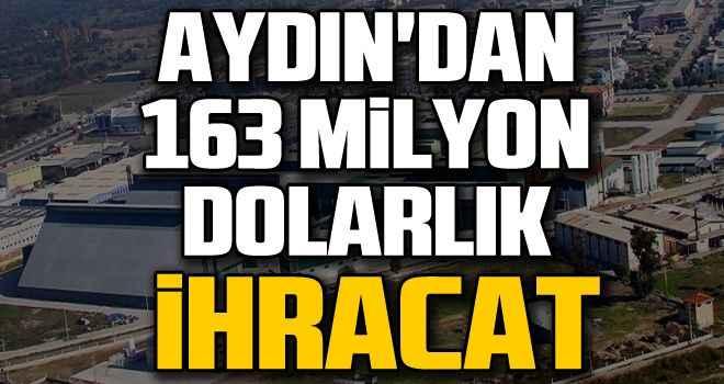 Aydın'dan 163 milyon dolarlık ihracat