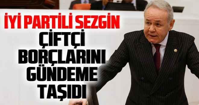 İYİ Partili Sezgin, çiftçi borçlarını gündeme taşıdı