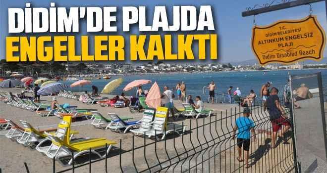 Didim'de plajda engeller kalktı