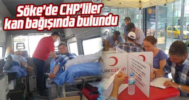 Söke'de CHP'liler kan bağışında bulundu