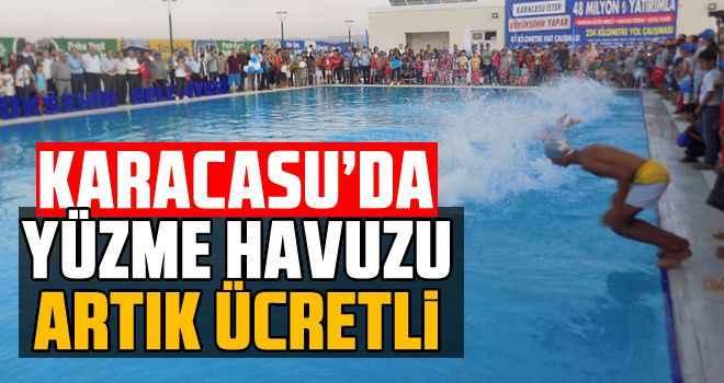 Karacasu'da yüzme havuzu artık ücretli