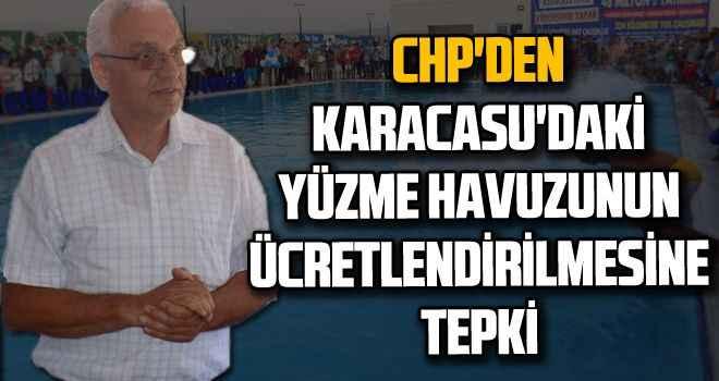 CHP'den Karacasu'daki yüzme havuzunun ücretlendirilmesine tepki