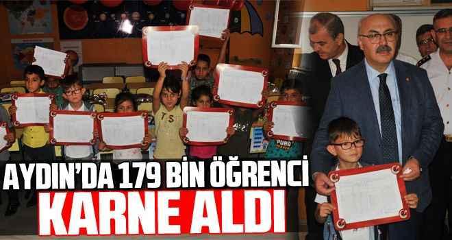 Aydın'da 179 bin öğrenci karne aldı