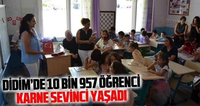 Didim'de 10 bin 957 öğrenci karne sevinci yaşadı
