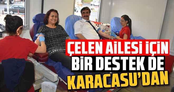 Çelen ailesi için bir destek de Karacasu'dan