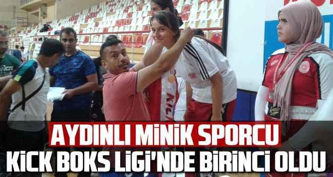 Aydınlı minik sporcu, Kick Boks Ligi'nde birinci oldu