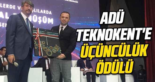 ADÜ Teknokent'e üçüncülük ödülü