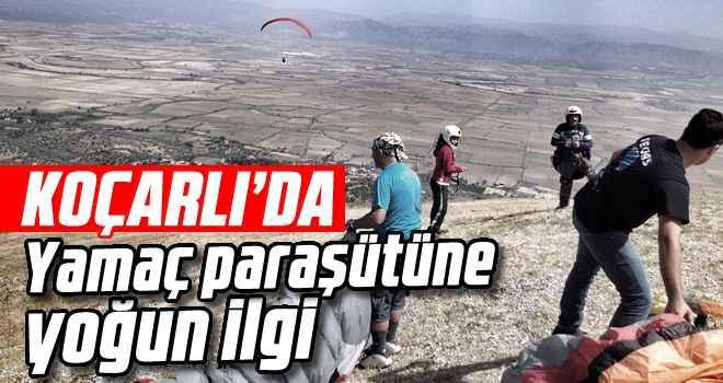 Koçarlı'da yamaç paraşütüne yoğun ilgi