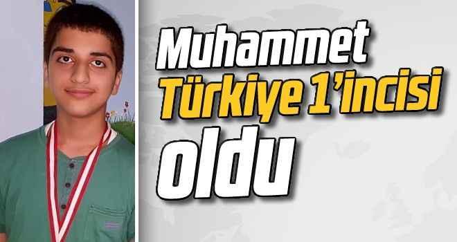 Muhammet, Türkiye 1'incisi oldu