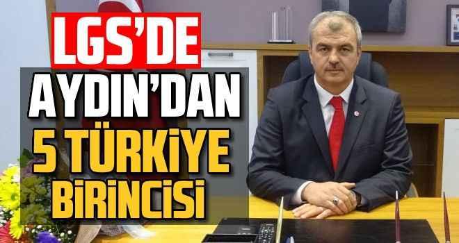 LGS'de Aydın'dan 5 Türkiye birincisi
