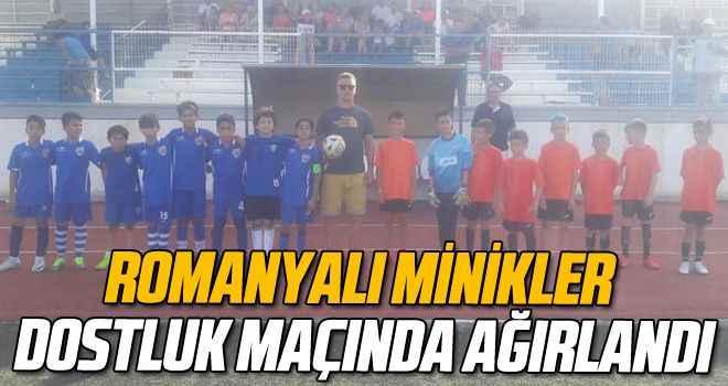 Romanyalı minikler dostluk maçında ağırlandı